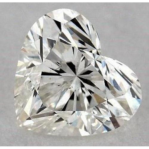 0.50 Carats Heart Diamond Loose F Vvs2 Very Good Cut Diamond