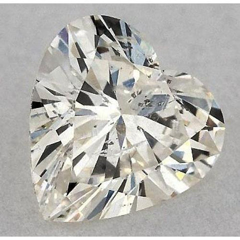 0.50 Carats Heart Diamond Loose G Si1 Good Cut Diamond