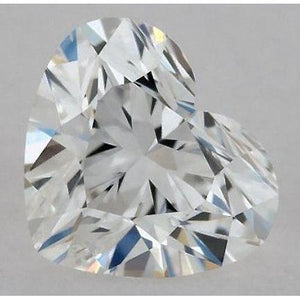 0.50 Carats Heart Diamond Loose G Vvs1 Very Good Cut Diamond