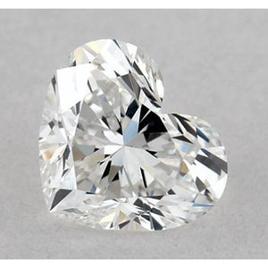 0.50 Carats Heart Diamond Loose G Vvs2 Very Good Cut Diamond