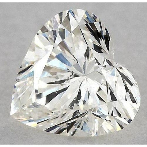 0.50 Carats Heart Diamond Loose H Si1 Good Cut Diamond