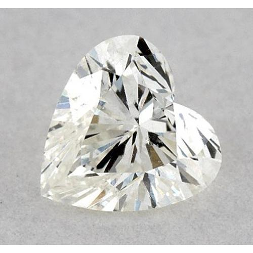 0.50 Carats Heart Diamond Loose H Vs2 Very Good Cut Diamond