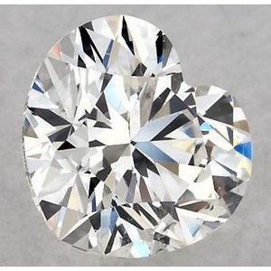 0.50 Carats Heart Diamond Loose H Vvs2 Very Good Cut Diamond