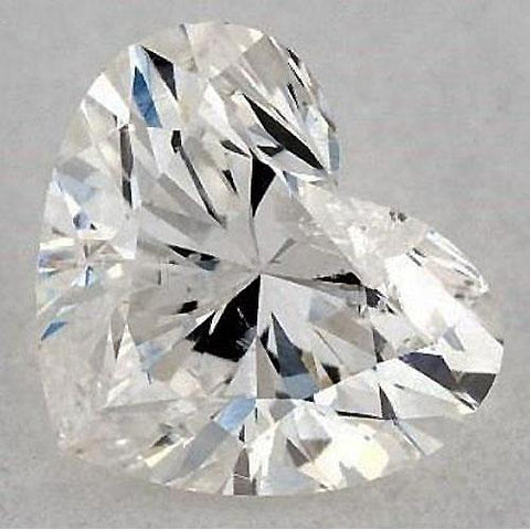 0.50 Carats Heart Diamond Loose I Si1 Good Cut Diamond