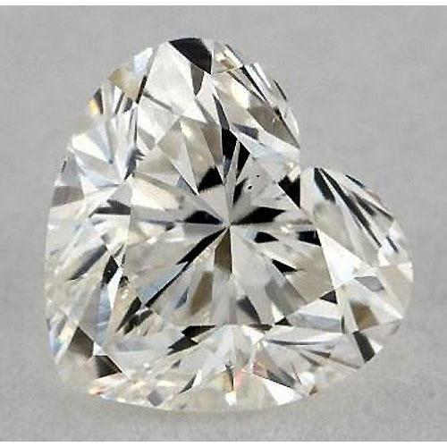 0.50 Carats Heart Diamond Loose I Vs1 Very Good Cut Diamond