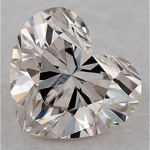 0.50 Carats Heart Diamond Loose J Vs1 Very Good Cut Diamond