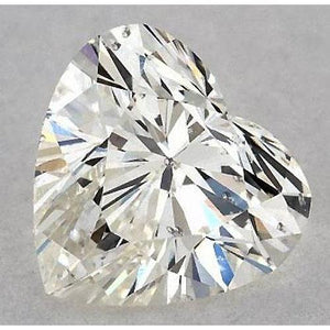 0.50 Carats Heart Diamond Loose K Si1 Good Cut Diamond