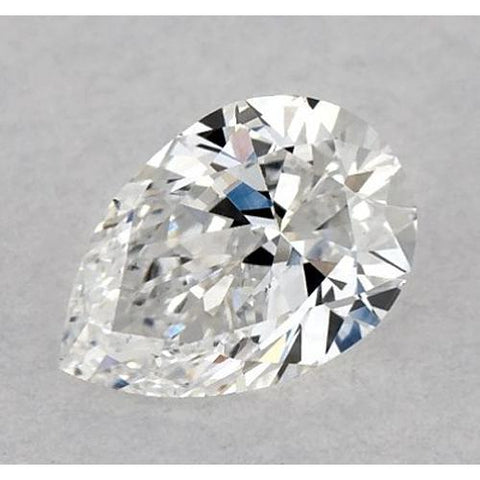 0.50 Carats Pear Diamond Loose E Vs2 Very Good Cut Diamond