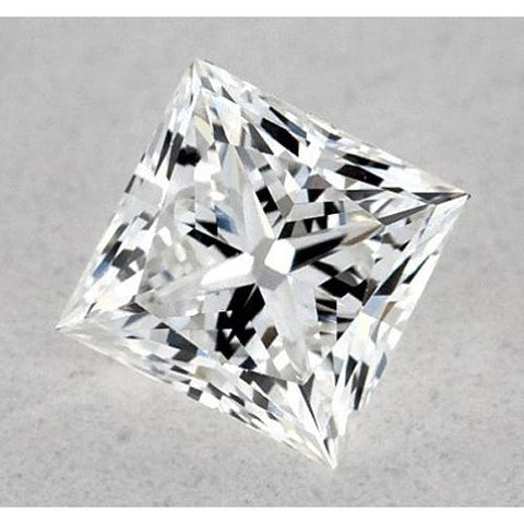 0.50 Carats Princess Diamond Loose E Vvs1 Excellent Cut Diamond