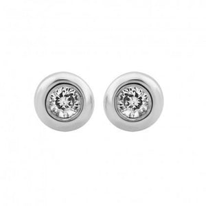 0.6 Ct Small Round Diamond Stud Earring 14K White Gold Stud Earrings