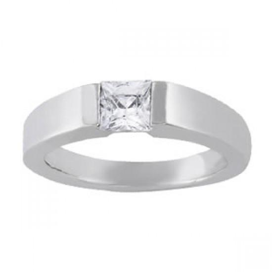 0.60 Carat Princess Diamond Solitaire Ring White Gold 14K New Solitaire Ring