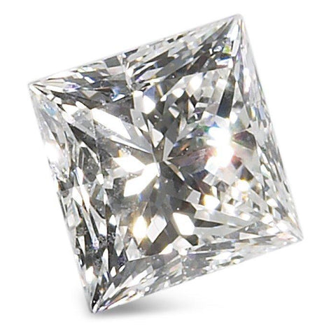 0.7 Carats Princess Cut White Diamond Diamond