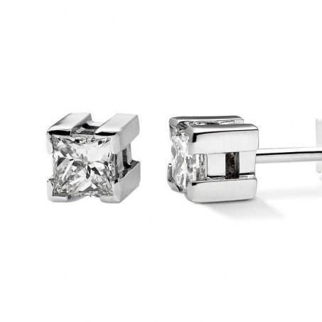 0.70 Carats Princess Cut Diamond Stud Earring White Gold 14K Sparkling Jewelry Stud Earrings