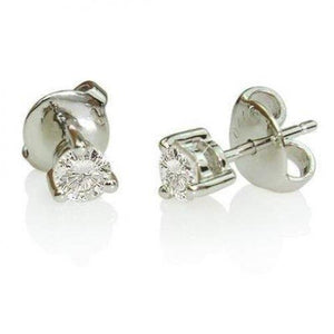 0.70 Carats Prong Set Solitaire Round Diamond Stud Earring Stud Earrings