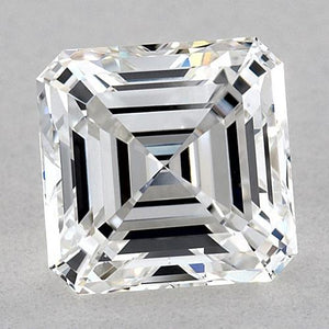 0.75 Carats Asscher Diamond Loose F Fl Very Good Cut Diamond