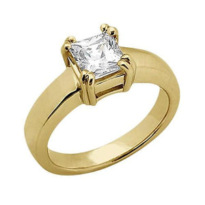 0.75 Carats Diamond Ring Solitaire Engagement Ring Yellow Gold 14K Solitaire Ring