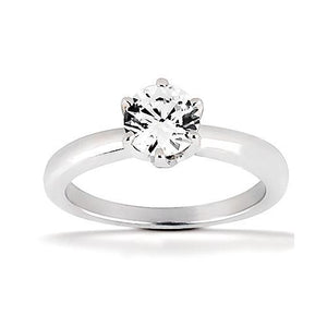 0.75 Carats Diamond Solitaire Engagement Ring 6 Prong Style Solitaire Ring