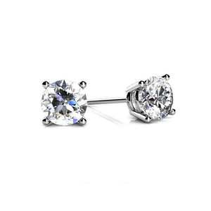 0.75 Carats Diamond Stud Earrings White Gold 14K Womens Jewelry Stud Earrings