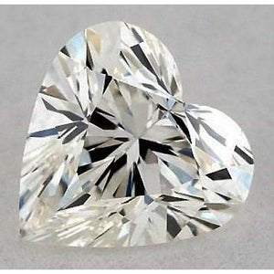 0.75 Carats Heart Diamond Loose E Vs2 Very Good Cut Diamond