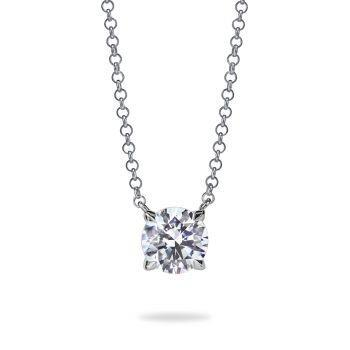 0.75 Carats Round Shaped Diamond Necklace Pendant Pendant