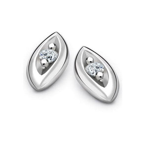 0.80 Carats Brilliant Cut Diamond Ladies Stud Earrings 14K White Gold Stud Earrings