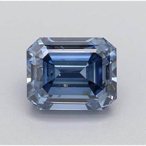 0.80 Carats Intense Blue Emerald Cut Loose Diamond Diamond