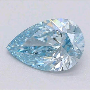 0.80 Carats Intense Green-Blue Pear Cut Loose Diamond Diamond