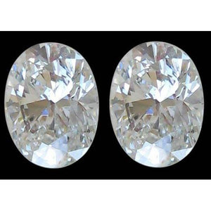 0.80 Carats Pair Oval Cut Natural Loose Diamonds F Vs1 Diamond