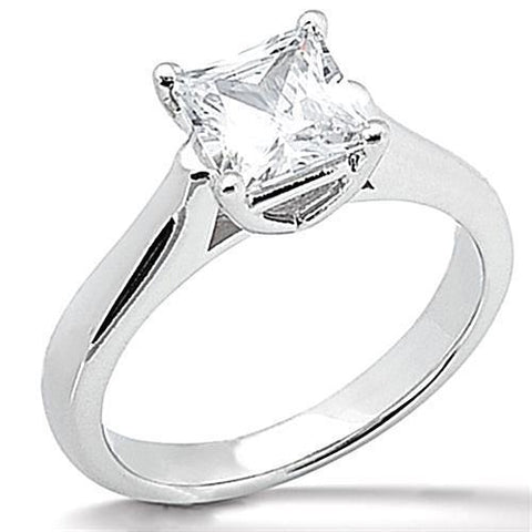 1 Carat 14K White Gold G VS2 Sparkling Diamond Engagement Solitaire Ring Solitaire Ring