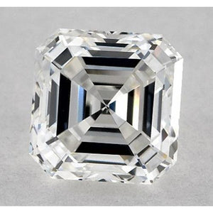 1 Carat Asscher Diamond Loose F VVS2 Very Good Cut Diamond