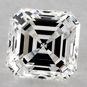 1 Carat Asscher Diamond Loose G Fl Very Good Cut Diamond