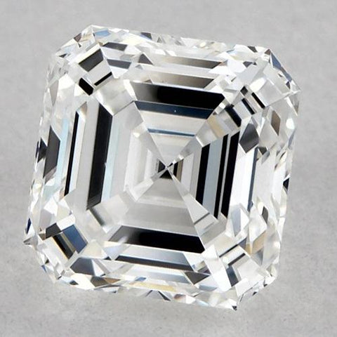 1 Carat Asscher Diamond Loose G VVS2 Very Good Cut Diamond