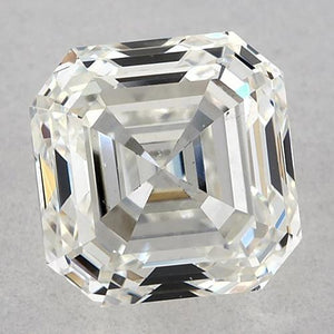 1 Carat Asscher Diamond Loose K VVS2 Very Good Cut Diamond