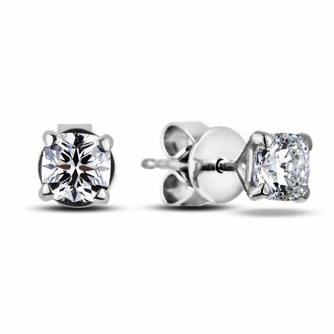 1 Carat Cushion Cut Diamond Stud Earring Stud Earrings