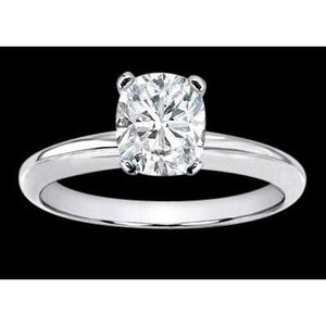 1 Carat Cushion Diamond Solitaire Engagement Ring Solitaire Ring