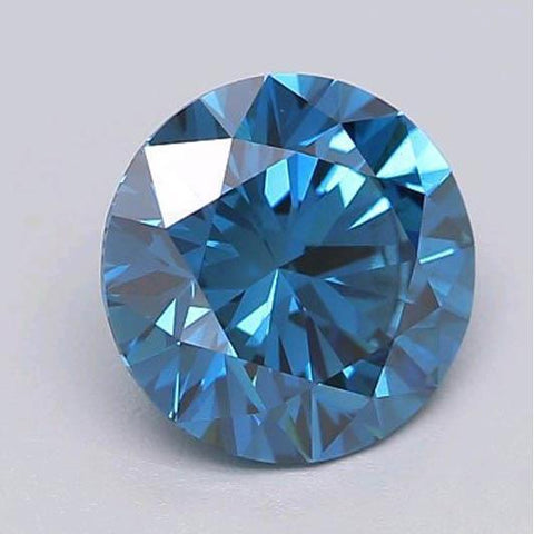 1 Carat Deep Greenish Blue Round Cut Loose Diamond Diamond