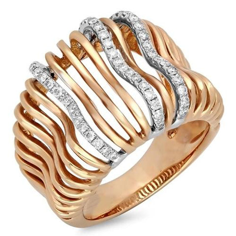 1 Carat Diamond Fancy Ring Two Tone Gold 14K Jewelry Anniversary Ring