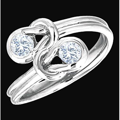 1 Carat Diamond Knot Style Wedding Engagement Ring Engagement Ring