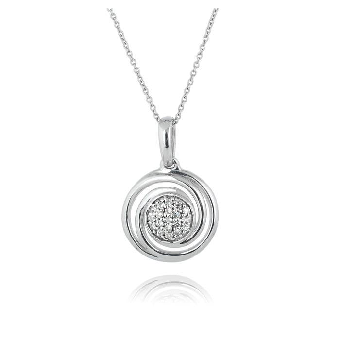 1 Carat Diamond Round Cut Pendant Necklace 14K White Gold Pendant
