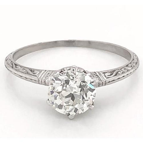 1 Carat Diamond Solitaire Filigree Ring 6 Prong Setting Women Jewelry Solitaire Ring
