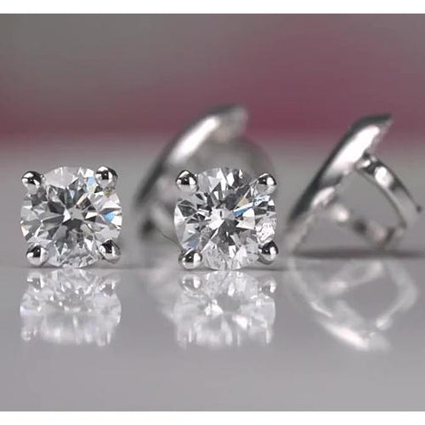 1 Carat Diamond Stud Earring White Gold 14K Stud Earrings