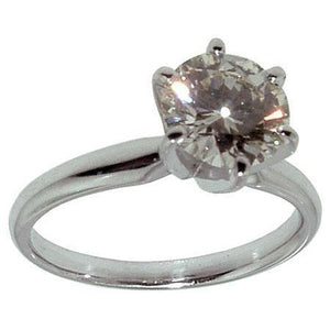 1 Carat E Vvs1 Round Diamond Solitaire Engagement Ring Solitaire Ring