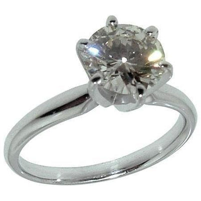 1 Carat F VS1 Round Diamond Solitaire Engagement Ring Jewelry Solitaire Ring