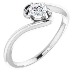 1 Carat Freeform Diamond Engagement Ring White Gold 14K Jewelry Engagement Ring