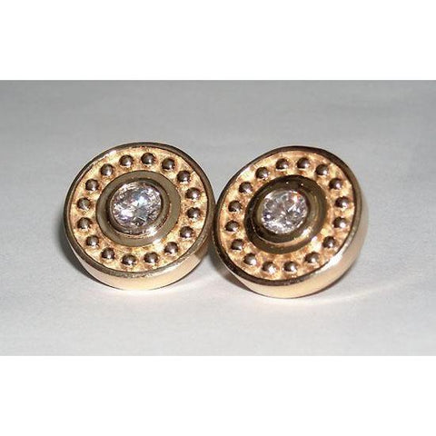 1 Carat G SI1 Antique Style Diamond Stud Earring Stud Earrings