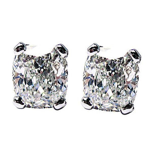 1 Carat G VS1 Diamond Earring Pair Cushion Cut Earring Earrings