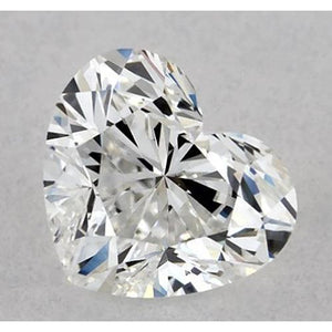 1 Carat Heart Diamond Loose F VVS2 Very Good Cut Diamond