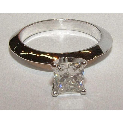 1 Carat Princess Cut Diamond Engagement Solitaire Ring Solitaire Ring