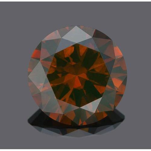1 Carat Red Round Loose Diamond Diamond