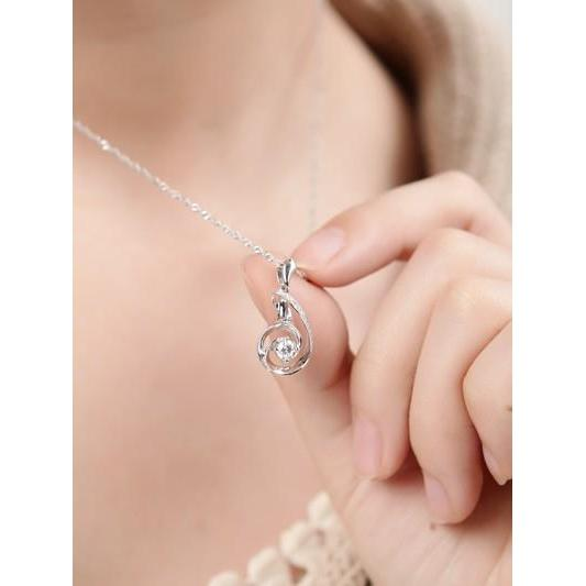 1 Carat Round Brilliant Cut Diamond Pendant Necklace Pendant